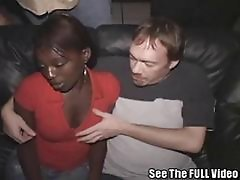Cum Slut Ebony Freak In Porn Theater!