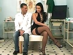 cute Brunette fucked by doctor