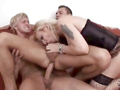 Interracial threesome bi